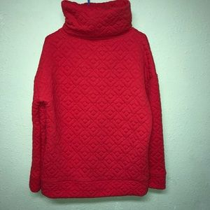 Red GapFit Quilted Pullover